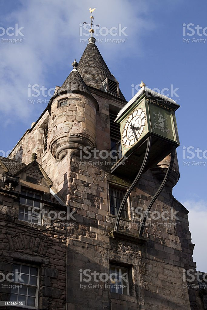 Canongate Clock Tower, Edinburgh Scotland stock photo