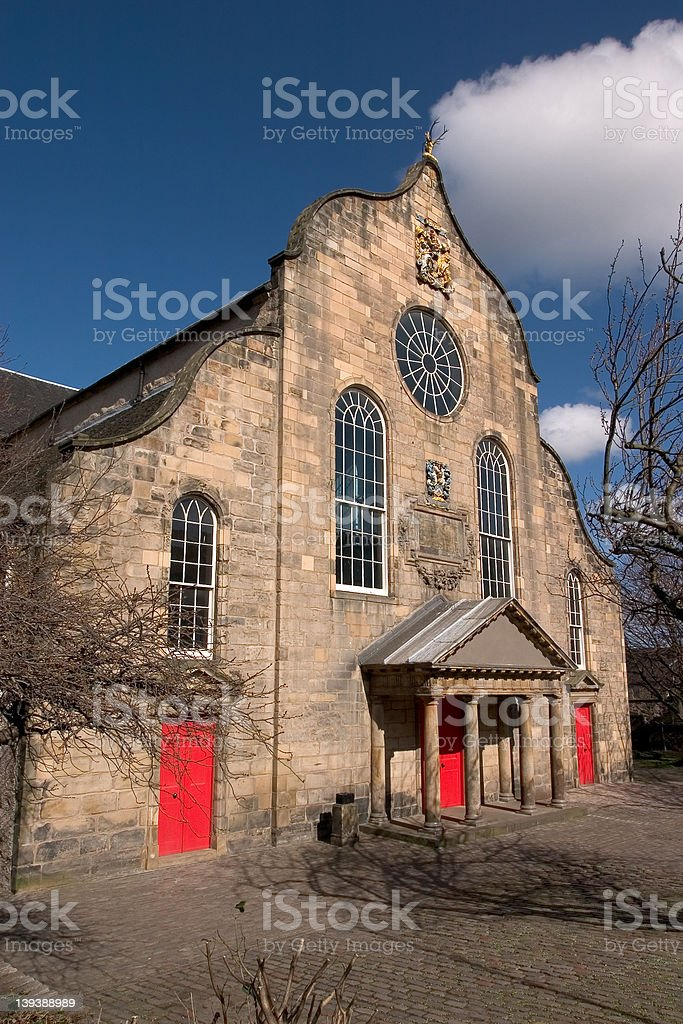 Canongate Kirk, Edinburgh stock photo