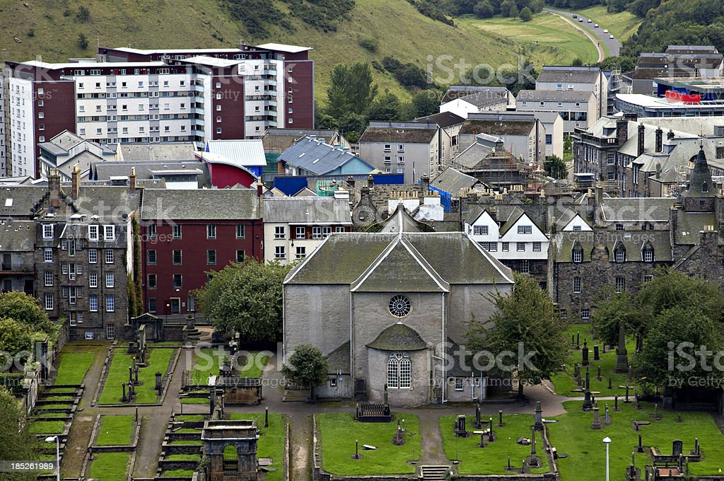 Canongate Kirk in Edinburgh Scotland stock photo