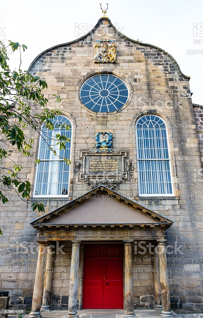 Canongate Kirk in Edinburgh, Scotland stock photo