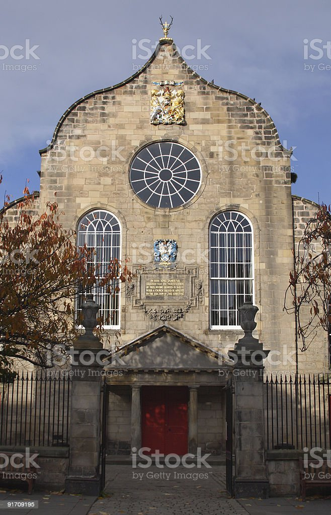 Canongate Kirk stock photo