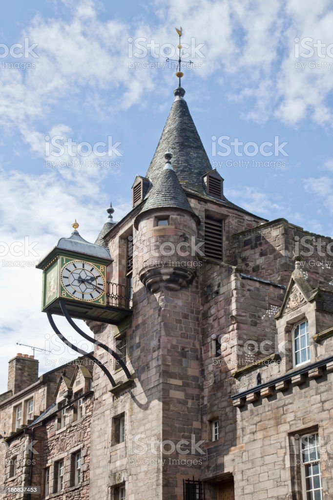 Canongate Tolbooth, Royal Mile, Edinburgh stock photo
