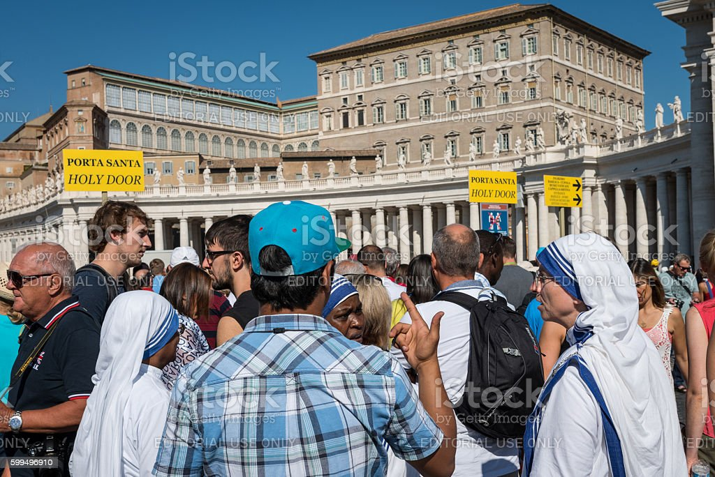 Canonization of Mother Teresa at St. Peter's Square stock photo