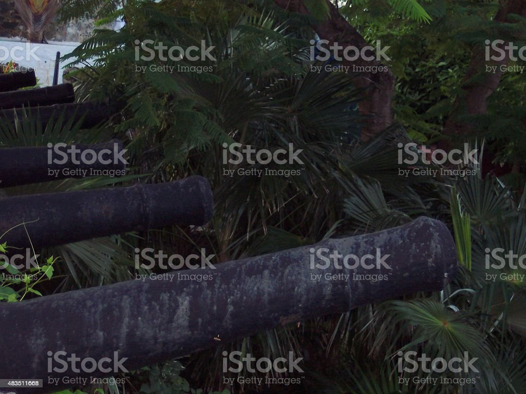 Canons Blazing stock photo