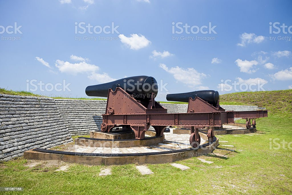 Canons From Fort Moultrie Near Charleston, South Carolina royalty-free stock photo