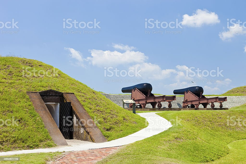 Canons From Fort Moultrie Near Charleston, South Carolina stock photo