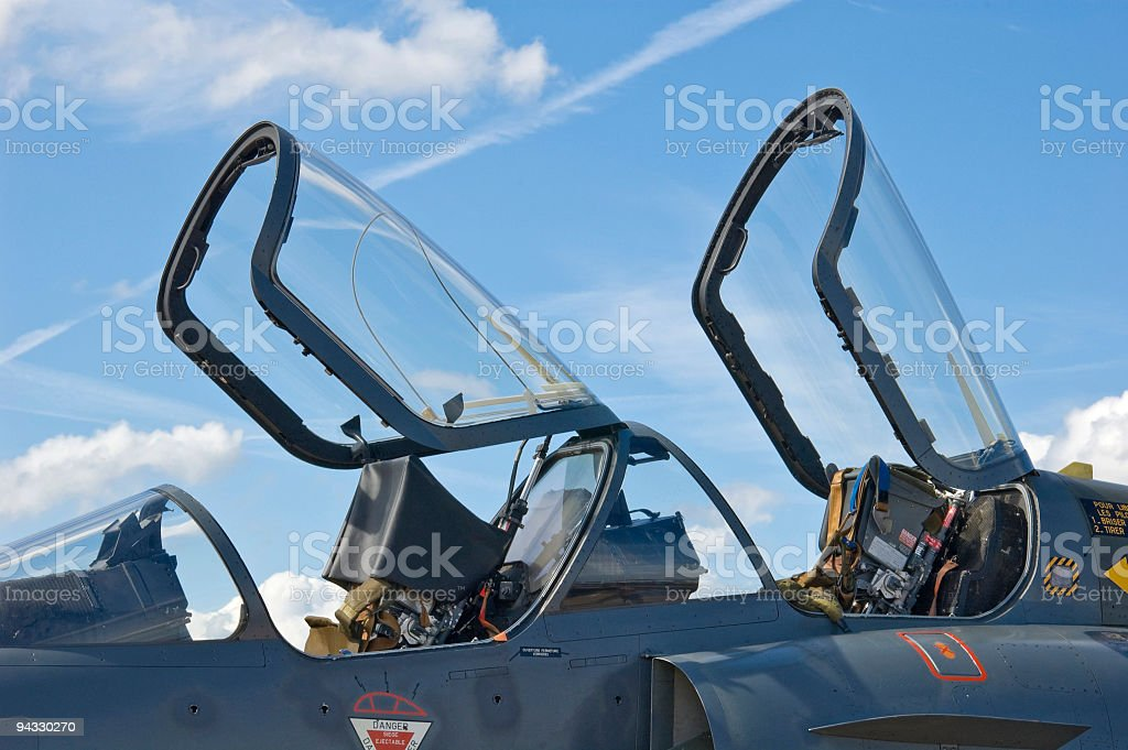 Canopies and ejector seats stock photo