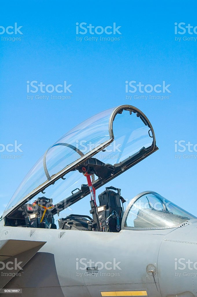 Canopy and ejection seat stock photo