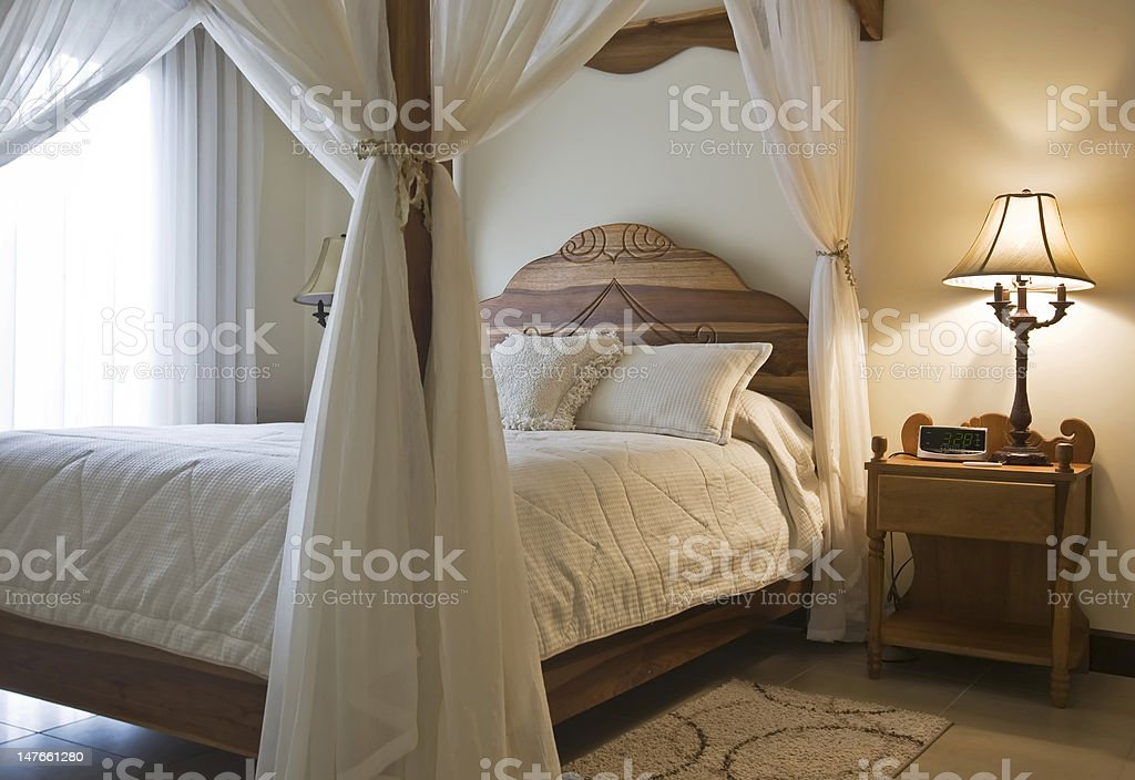 Canopy Bed stock photo