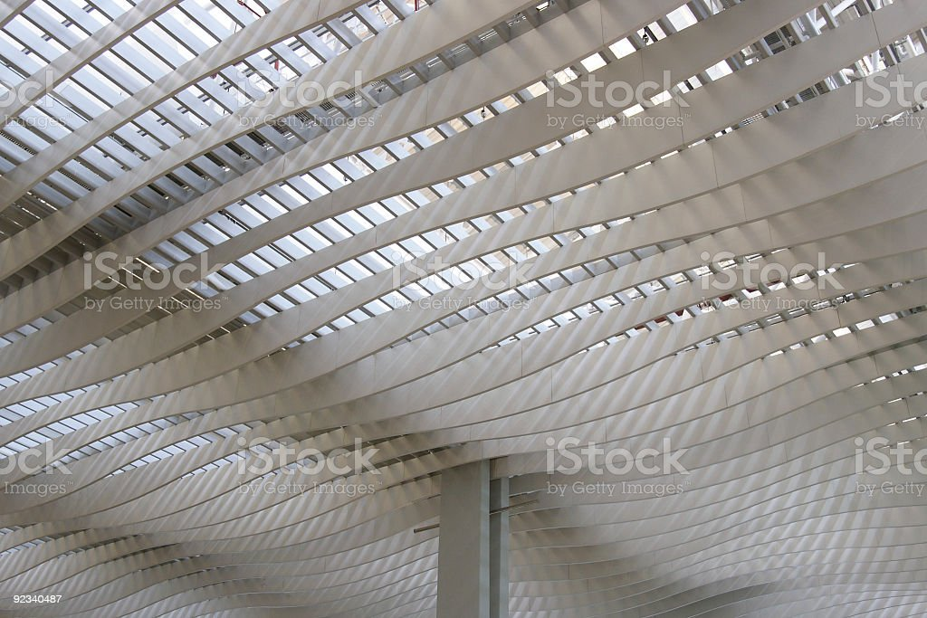 Canopy in Airport royalty-free stock photo