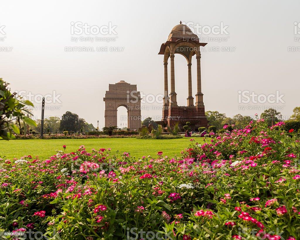 Canopy near the India Gate, Delhi stock photo