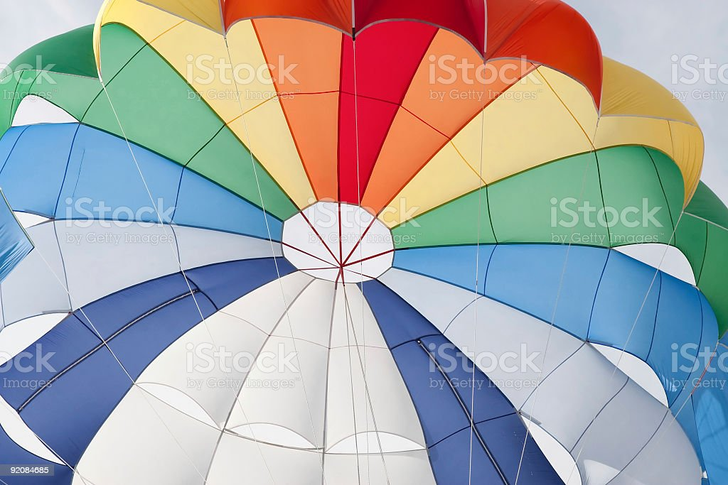 canopy of a multicolor parachute royalty-free stock photo