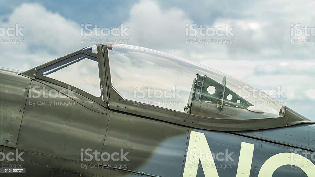 Canopy of a Supermarine Spitfire Mk. XVI stock photo