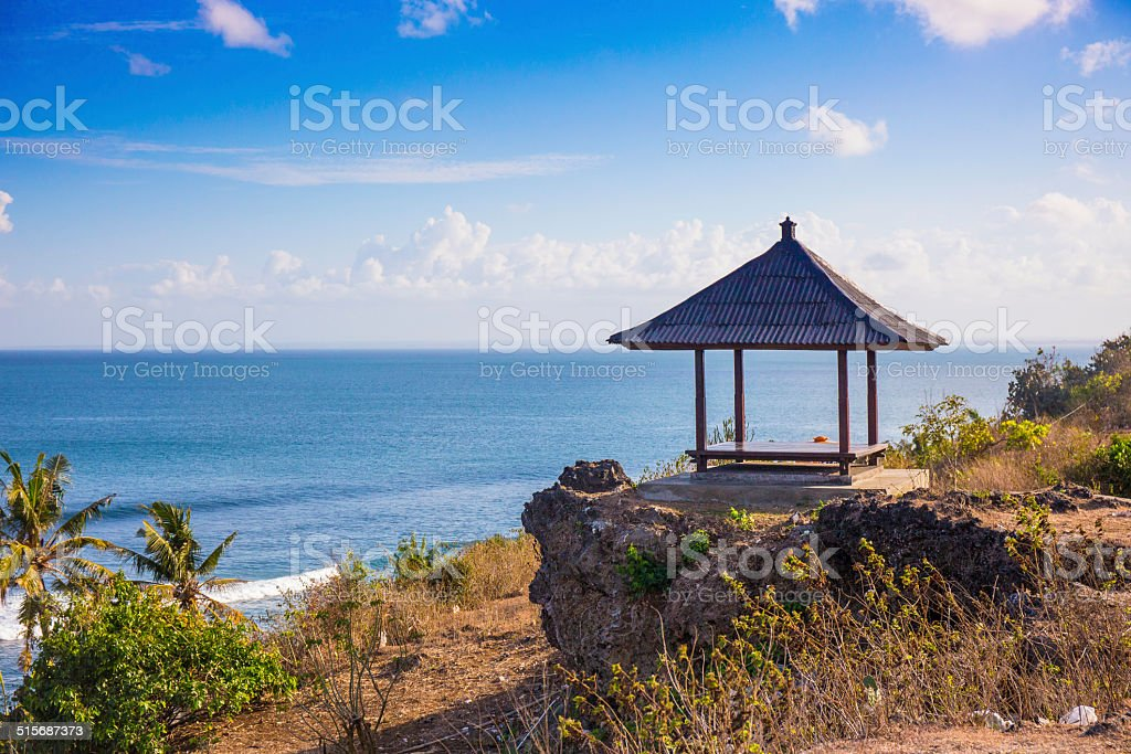 Canopy on the cliff. Bali stock photo