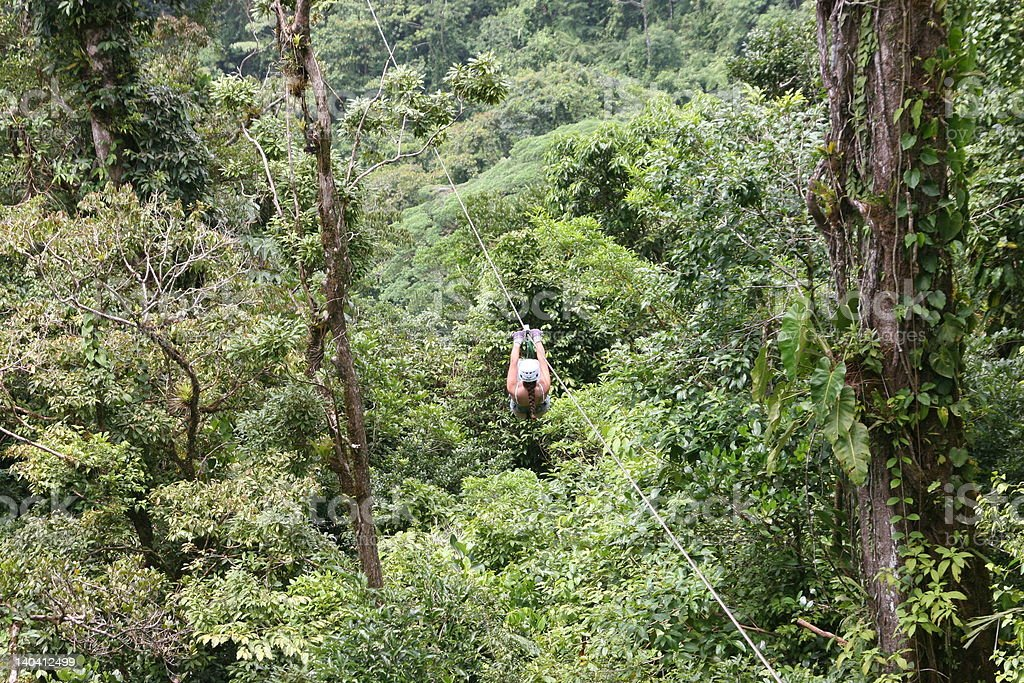 Canopy Tour in Costa Rica royalty-free stock photo