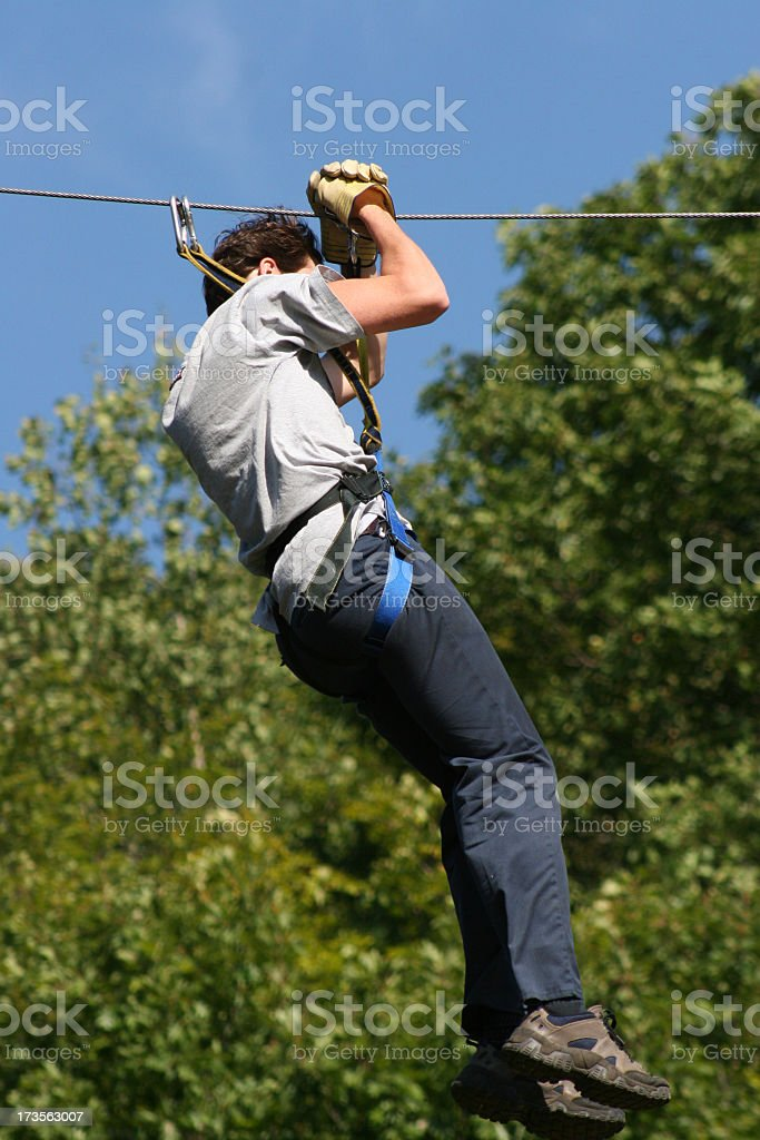 Canopy Tour royalty-free stock photo