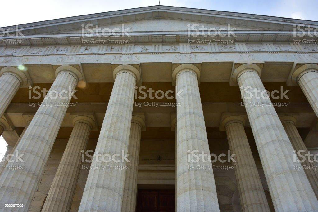 Canova temple stock photo