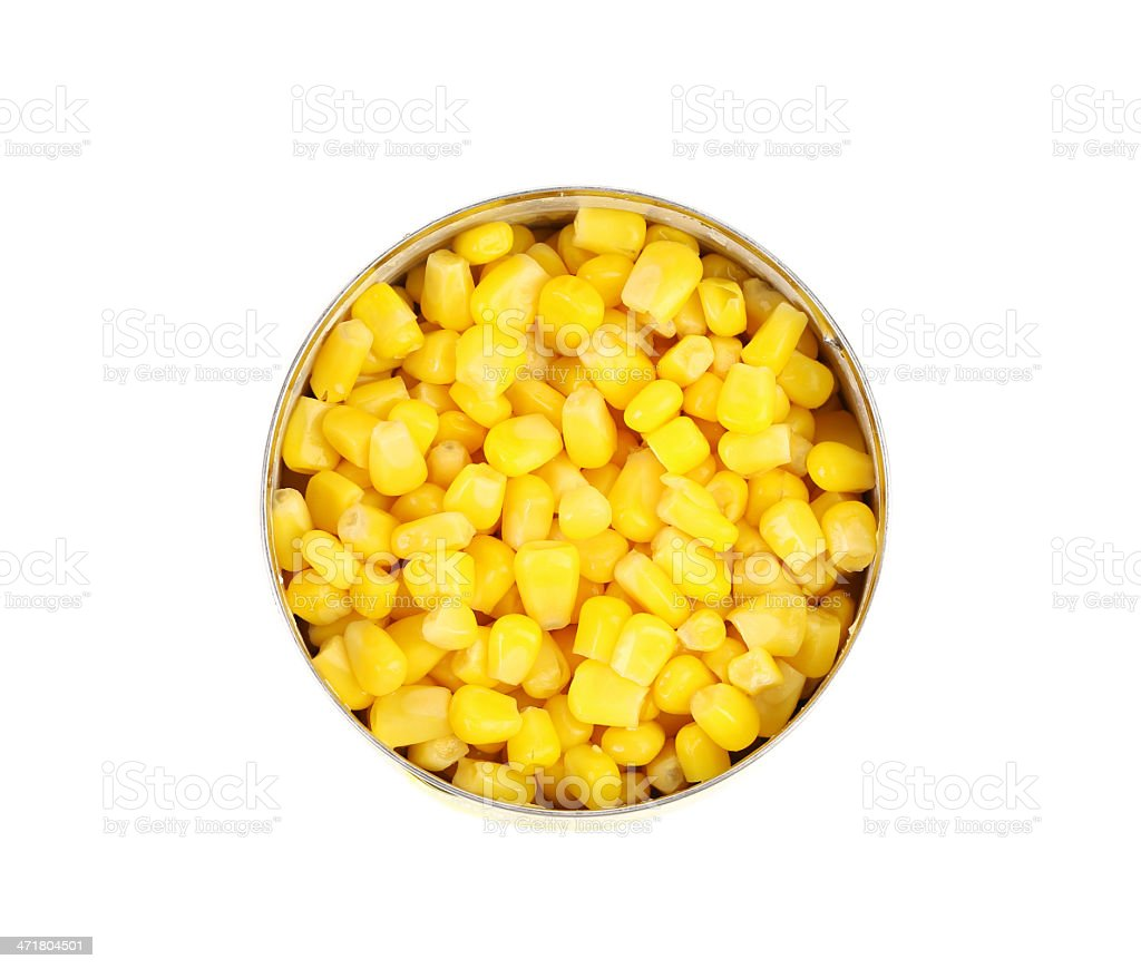 cans of corn. Iron packaging, a photo with top royalty-free stock photo