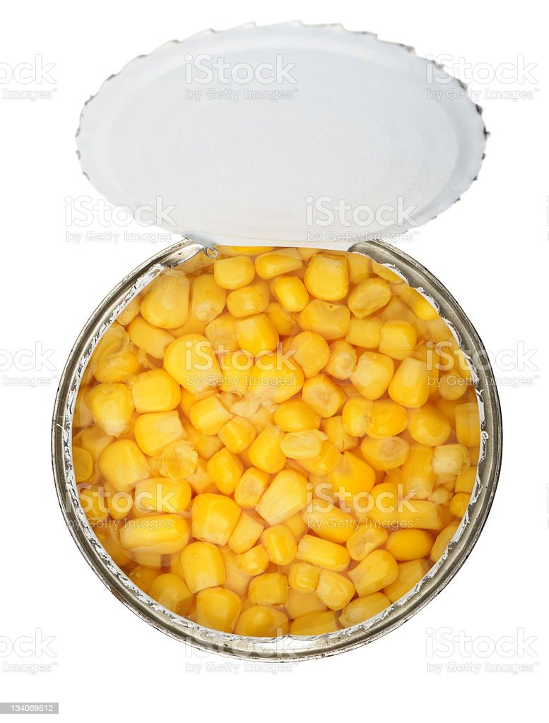 cans of corn royalty-free stock photo