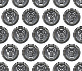 Cans seamless pattern