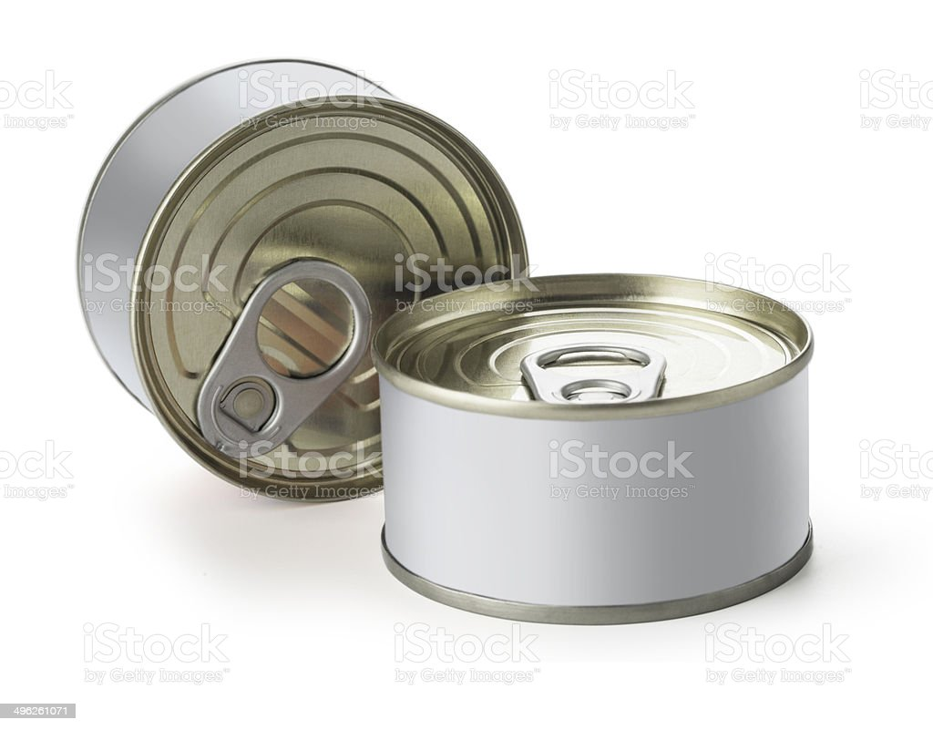 Cans with blank royalty-free stock photo