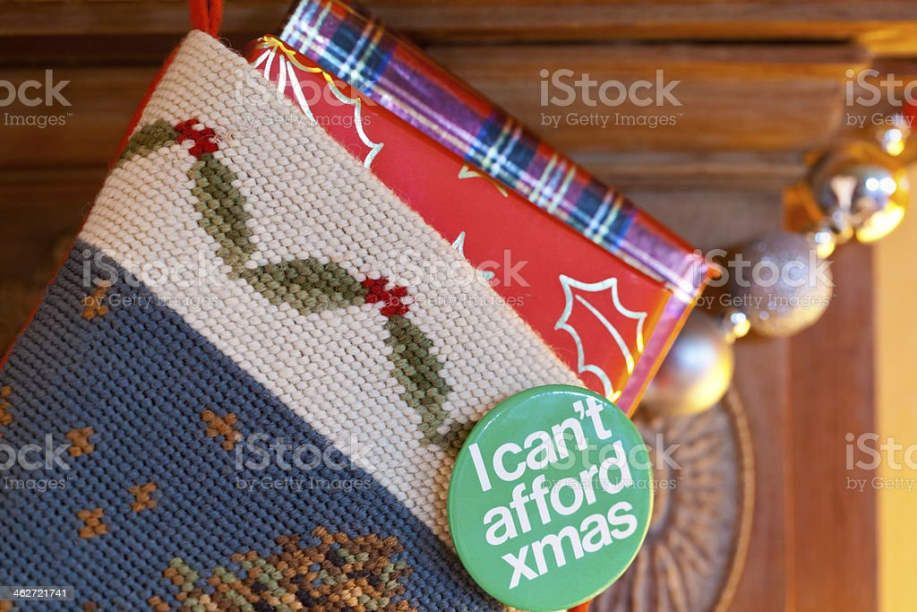 I Cant Afford Christmas royalty-free stock photo