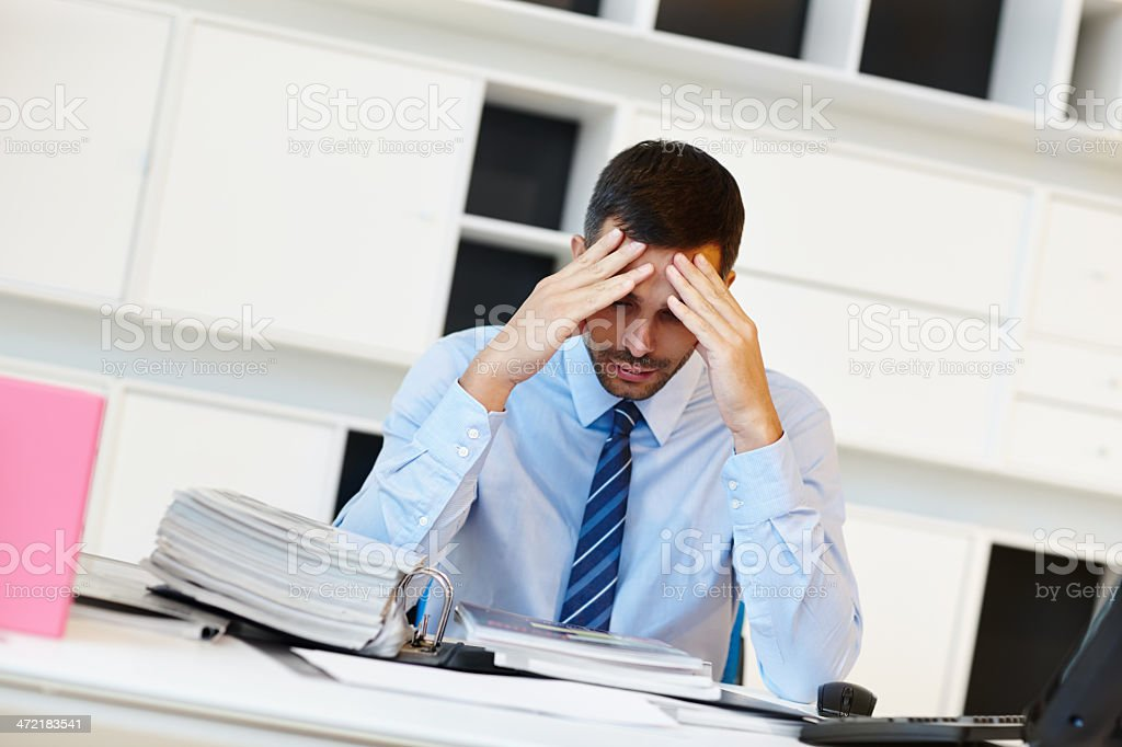 I can't believe I'm getting retrenched! stock photo