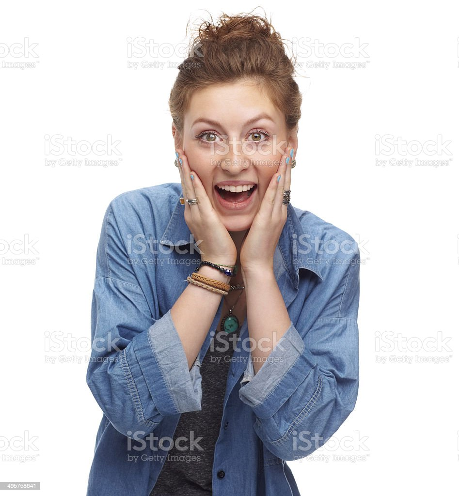 Can't believe it! royalty-free stock photo