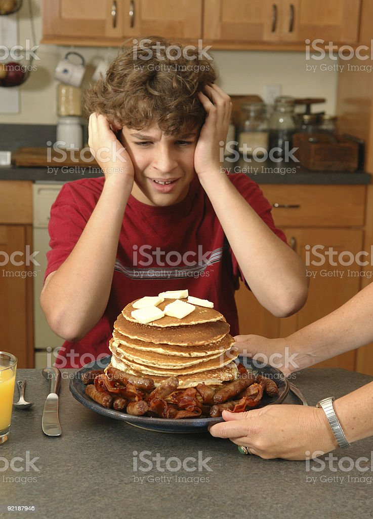I can't eat all that! royalty-free stock photo
