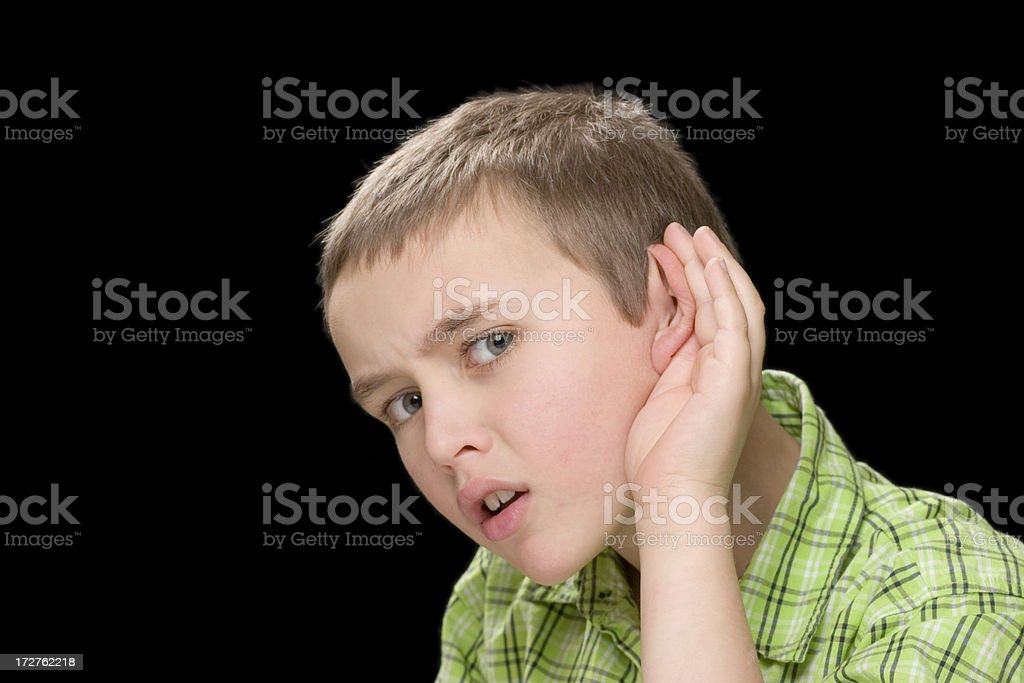 Can't hear you stock photo