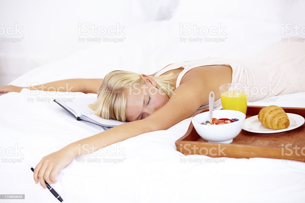 Can't I just sleep in today?! royalty-free stock photo