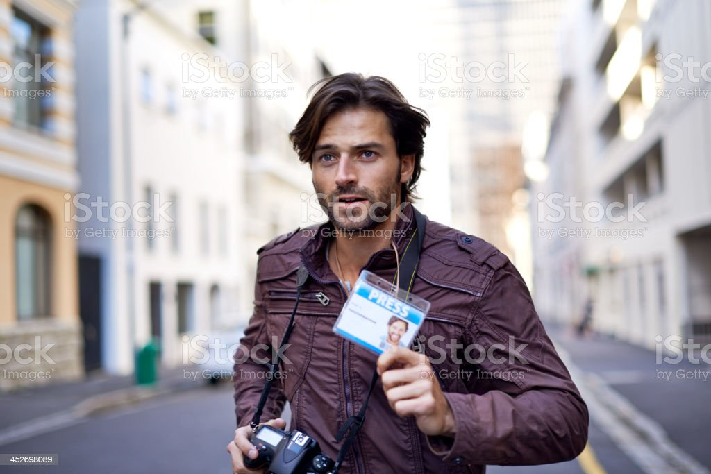 Can't miss this story! stock photo
