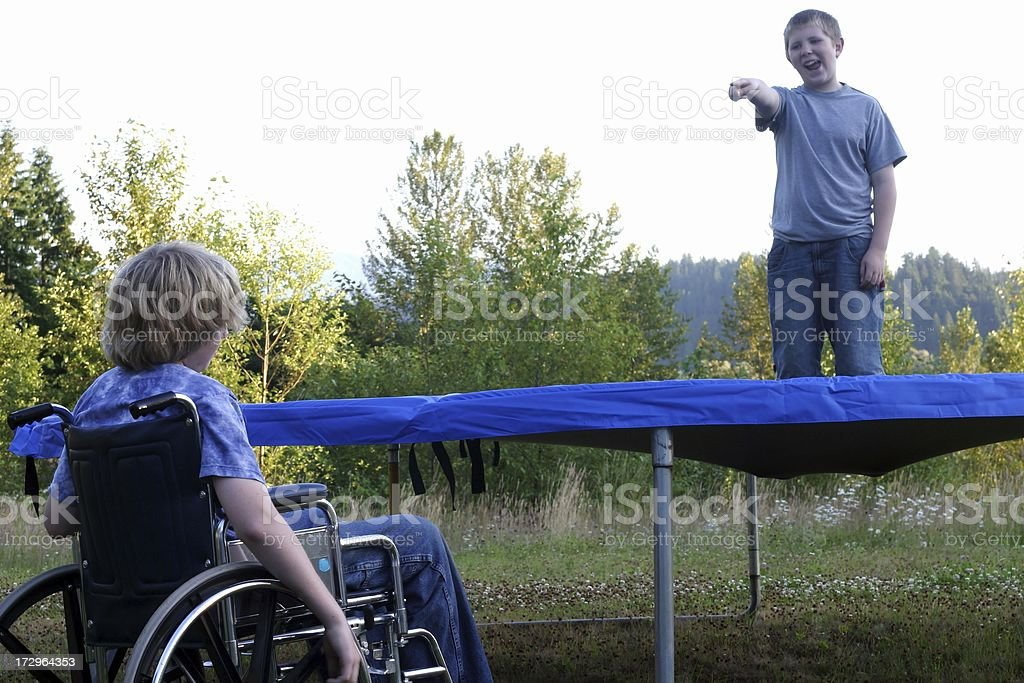 Can't Participate - Trampoline royalty-free stock photo