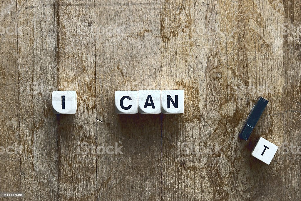 I can...'t stock photo