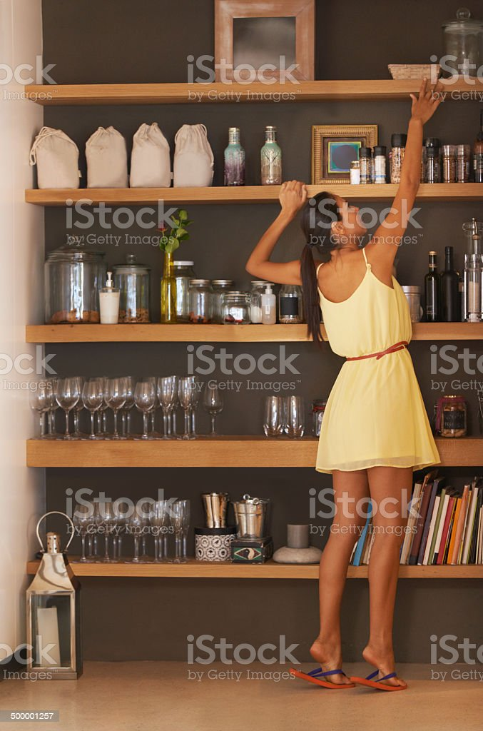 Can't reach... stock photo
