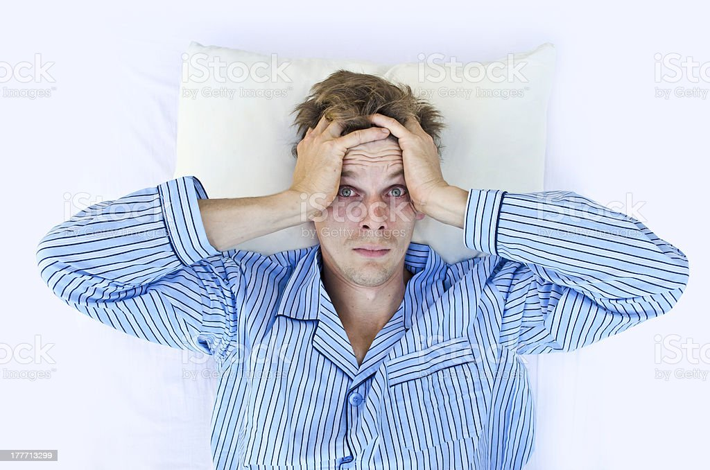 Can't sleep stock photo