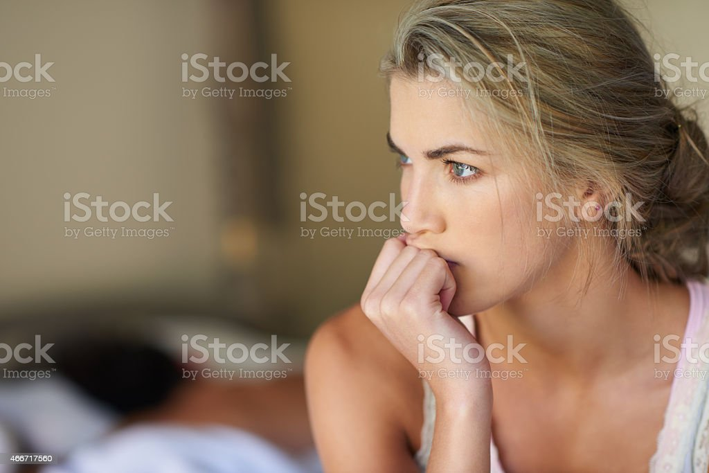 I can't sleep stock photo