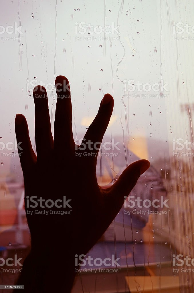 I can't stand the rain against my window stock photo