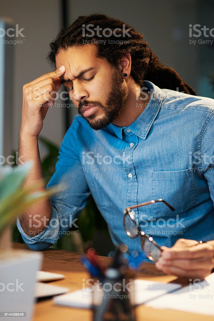 I can't stand this stress any longer stock photo
