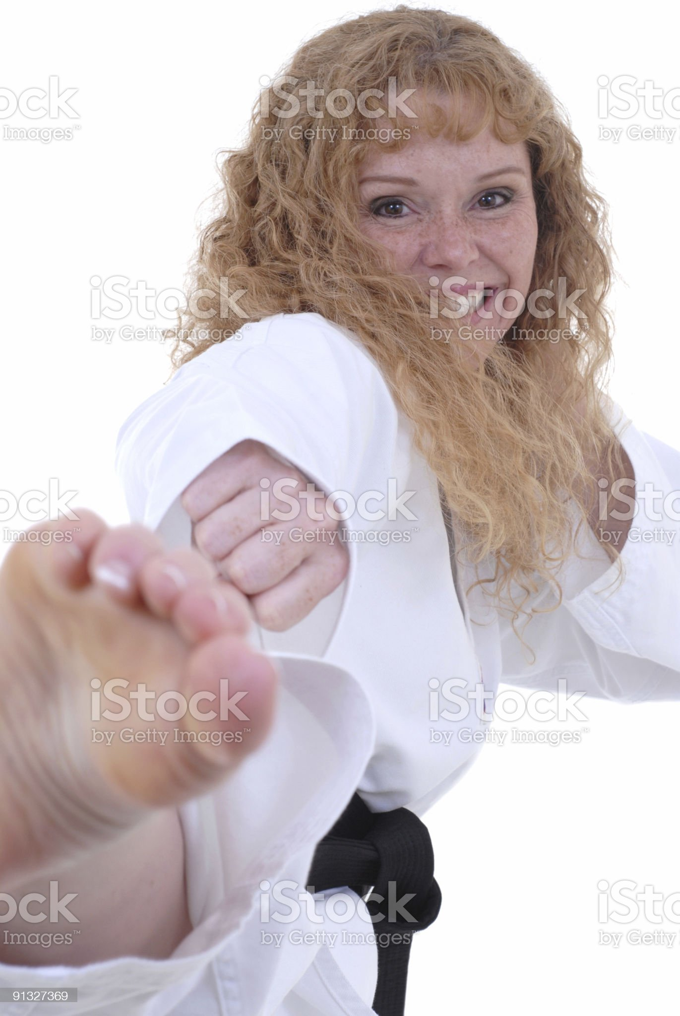 Can't stop her! royalty-free stock photo