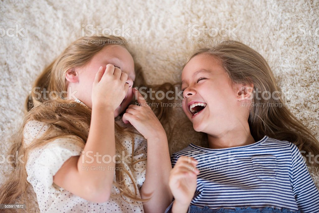 Can't stop laughing when they are together stock photo