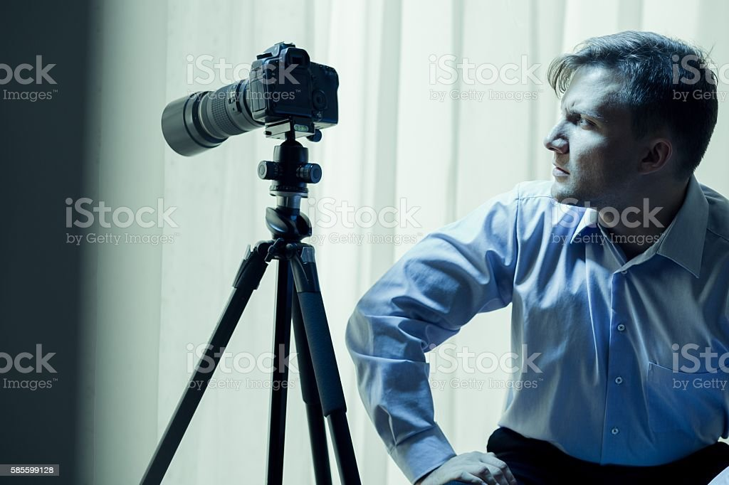 Can't stop watching people stock photo