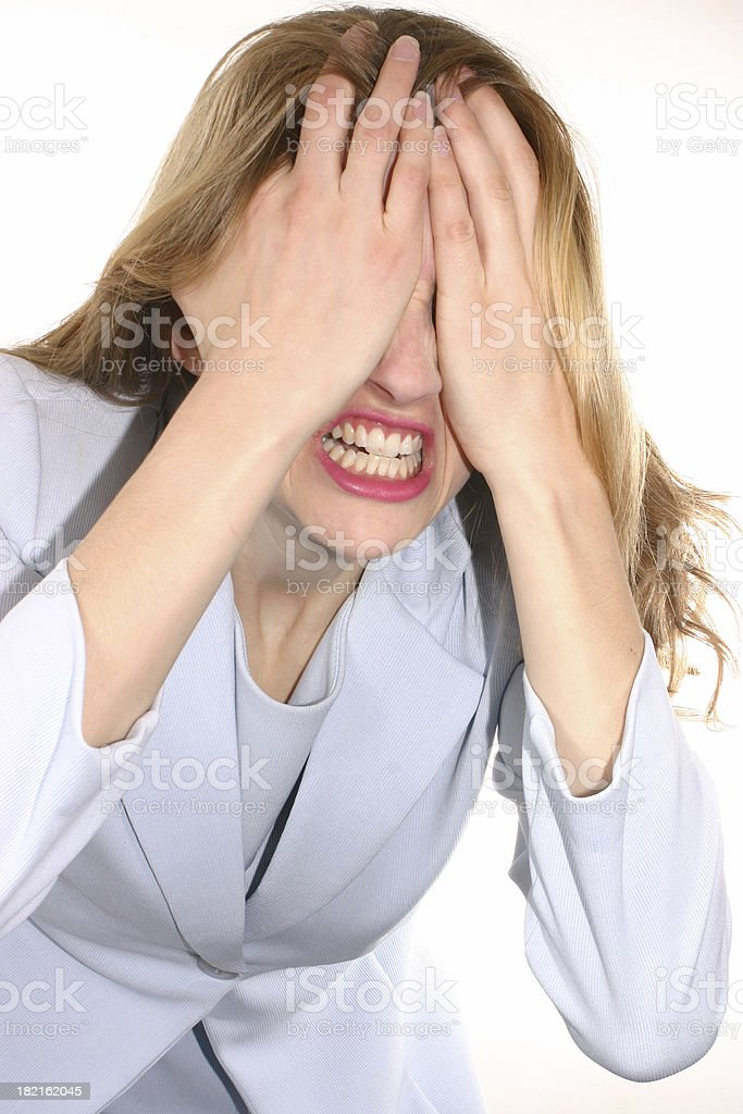 I Can't Take Anymore! royalty-free stock photo