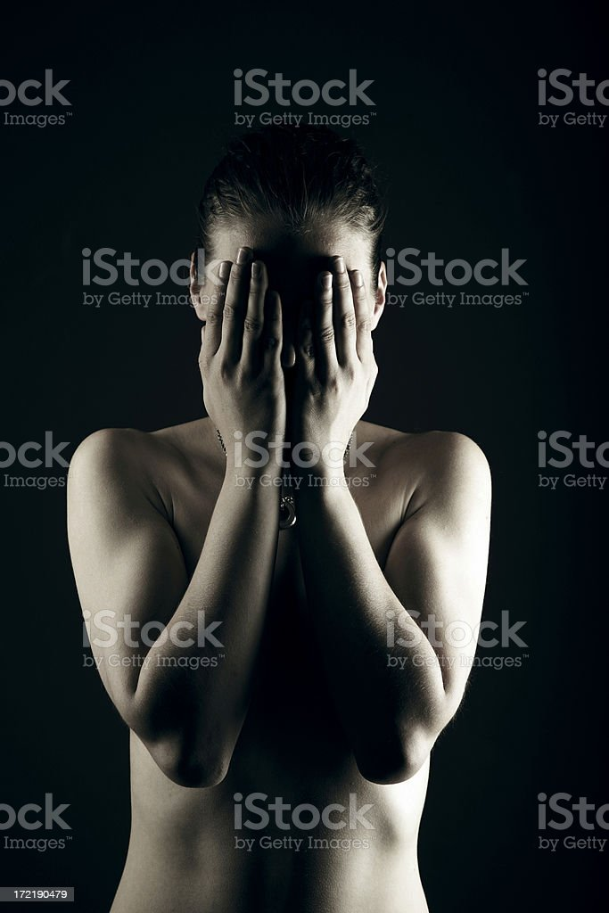 Can't take it anymore royalty-free stock photo