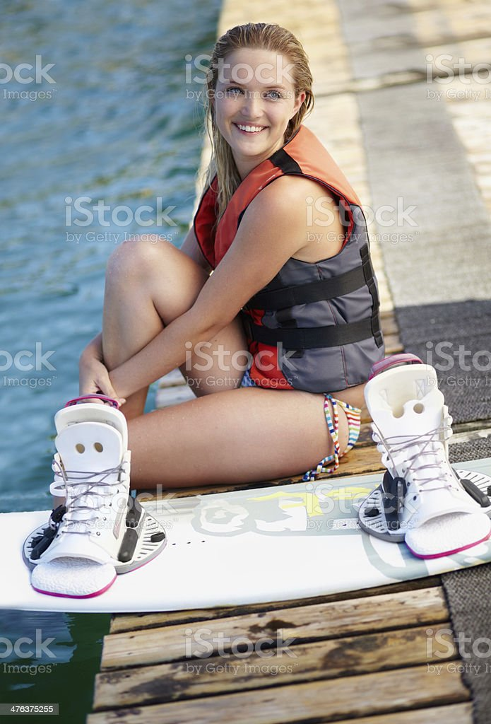I can't wait to get back in the water! royalty-free stock photo