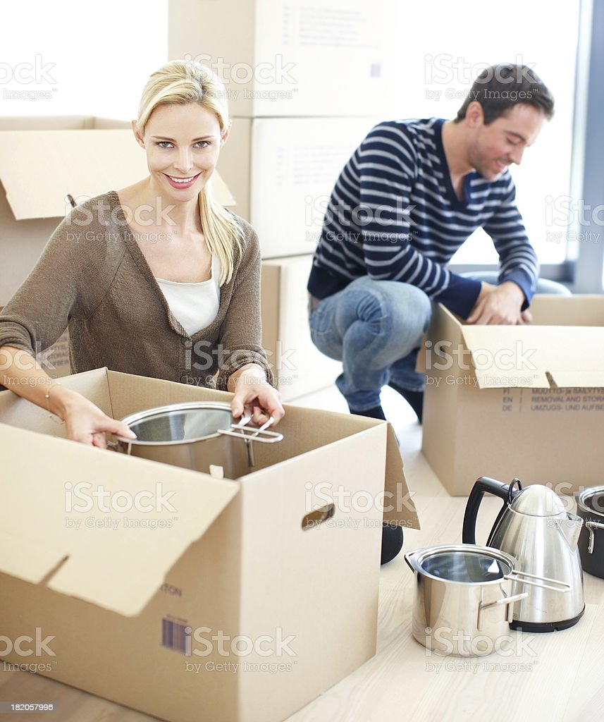 Can't wait to get cooking in my new kitchen! royalty-free stock photo
