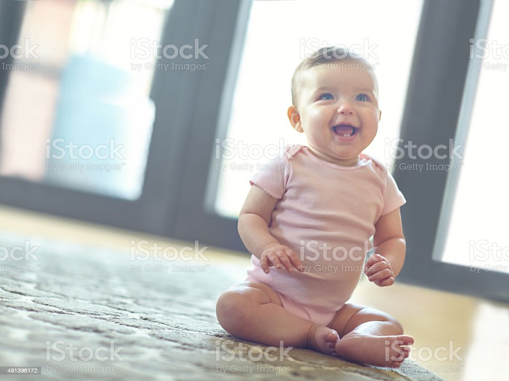 I can't wait to get walking! stock photo