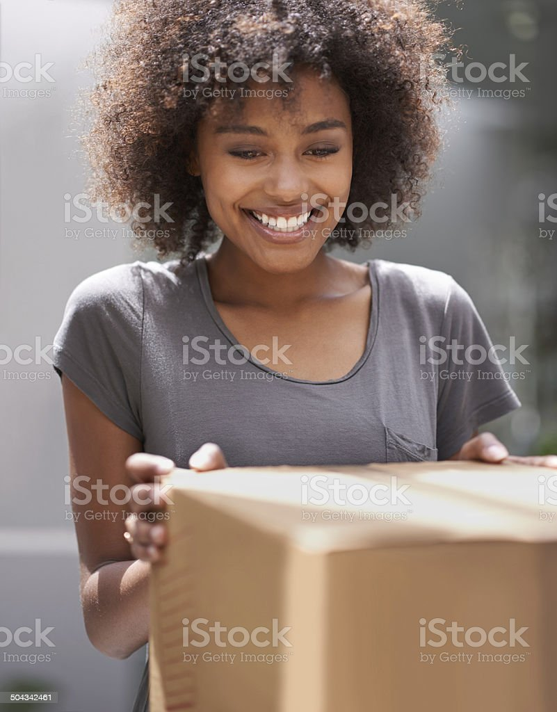 I can't wait to see what it is stock photo