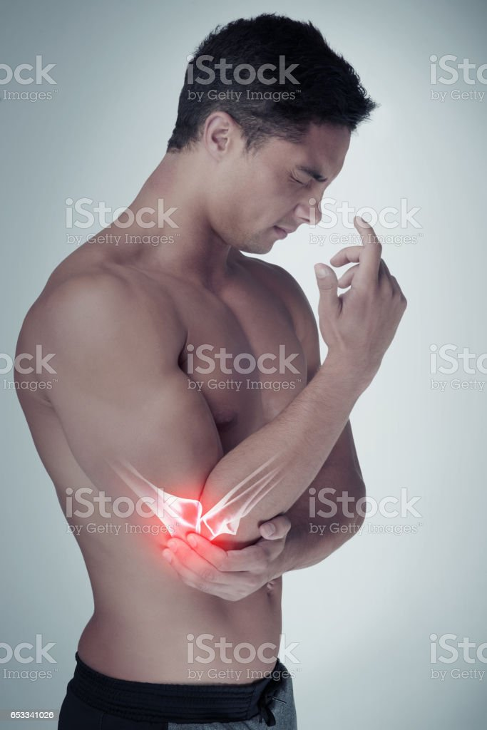 I can't workout with this injury stock photo