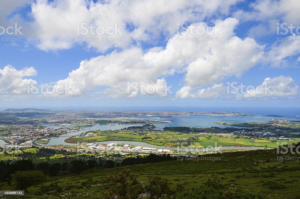 Cantabria landscape stock photo